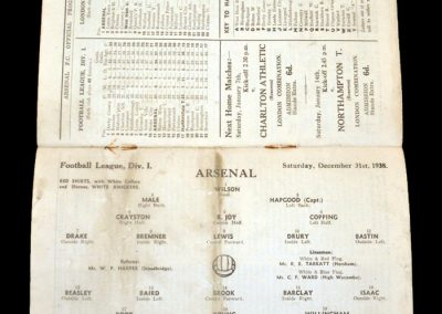 Arsenal v Huddersfield 31.12.1938