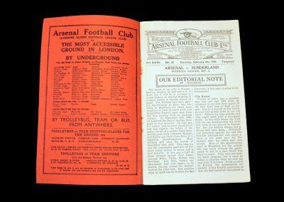 Arsenal v Sunderland 04.02.1939