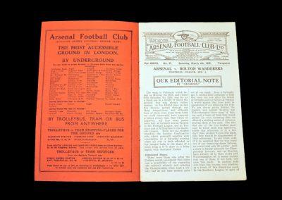 Arsenal v Bolton 04.03.1939
