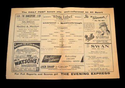 Liverpool v Middlesbrough 14.09.1938