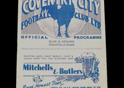 Coventry v Newcastle 01.10.1938