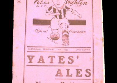 New Brighton v Barrow 11.02.1939