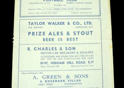 Walthamstow v Stockport 15.12.1938 - FA Cup 2nd Round Replay (1-3)