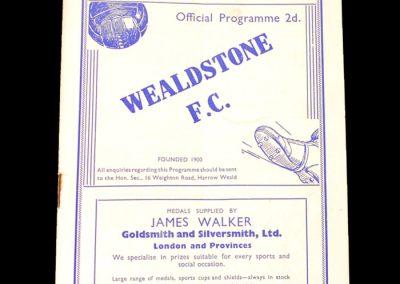 Wealdstone v Southall 16.09.1939