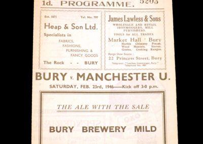 Bury v Man Utd 23.02.1946