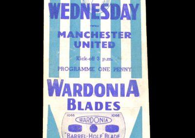Sheff Wed v Man Utd 27.04.1946