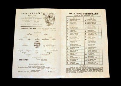 Sunderland Reserves v Stockton 08.09.1956
