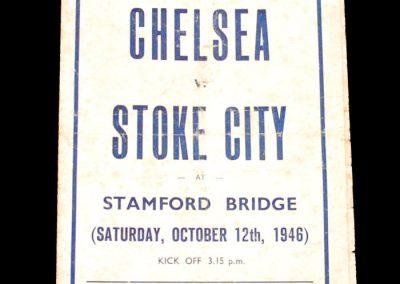 Chelsea v Stoke 12.10.1946 (Pirate)