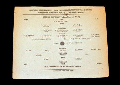 Oxford University v Wolves 27.11.1946