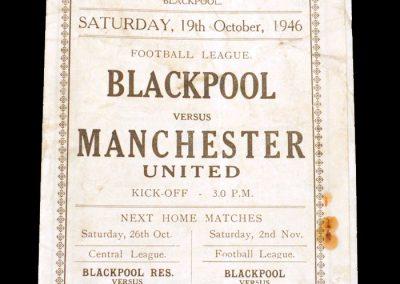 Blackpool v Man Utd 19.10.1946