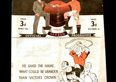 Man Utd v Blackburn 19.04.1947