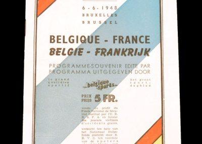 Belgium v France 06.06.1948