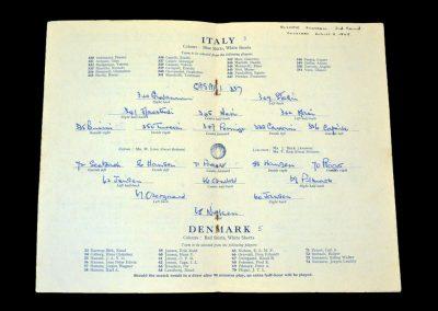 Italy v Denmark 05.08.1948 (Olympics)