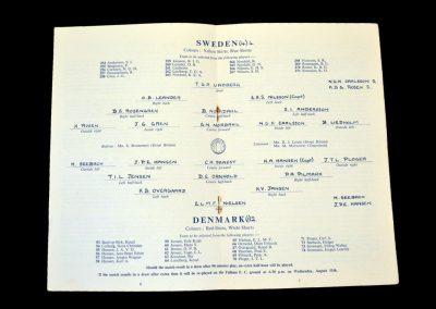 Sweden v Denmark 10.08.1948 - Semi Final (Olympics)