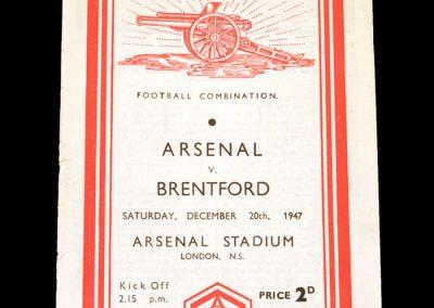 Arsenal v Brentford 20.12.1947