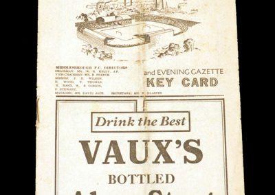 Middlesbrough v Man Utd 27.11.1948
