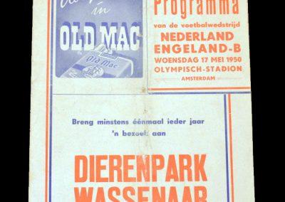 Netherlands v England B 17.05.1950
