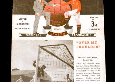 Man Utd v Aberdeen 02.05.1951 (Friendly)