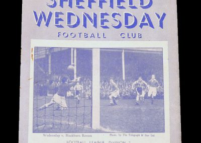 Sheff Wed v Notts County 03.11.1951 (Dooley gets 5 in a 6-0 thrashing for Tommy & Notts County)