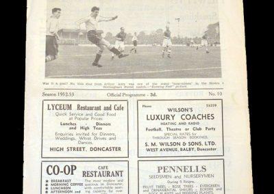 Doncaster v Brentford 04.10.1952