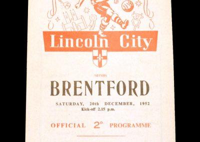 Lincoln v Brentford 20.12.1952