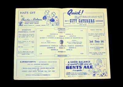Everton v Brentford 07.02.1953