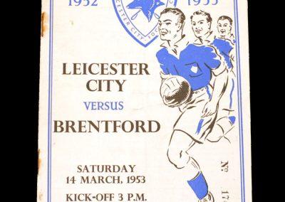 Leicester v Brentford 14.03.1953