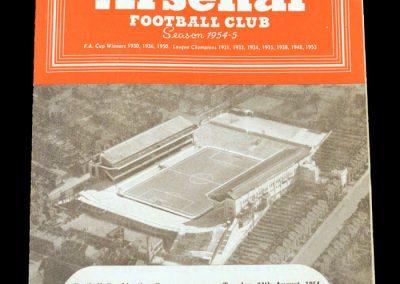Arsenal v Brentford 24.08.1954 (Lawton hat trick)