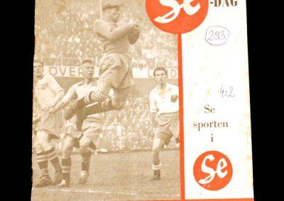 Sweden v Hungary 05.07.1953