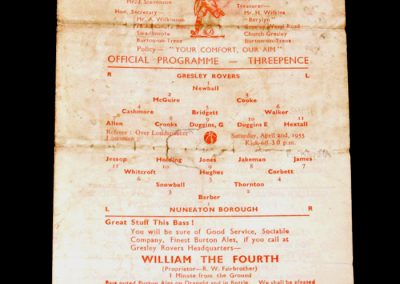 Gresley Rovers v Nuneaton 02.04.1955