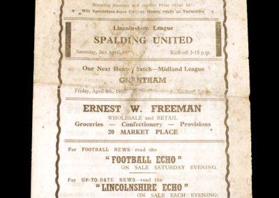 Gainsbourough v Spalding 02.04.1955