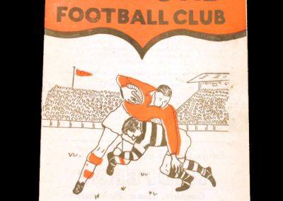 Salford v Warrington 02.04.1955 (Rugby League)