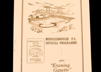 Middlesbrough v Plymouth 10.03.1956