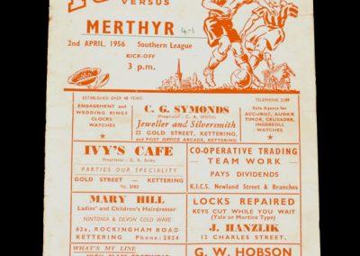 Kettering v Merthyr 02.04.1956