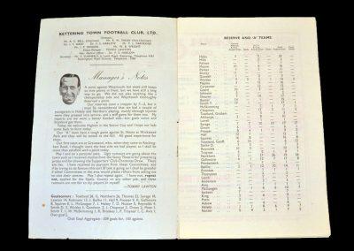 Kettering Reserves v Higham Town 19.01.1957