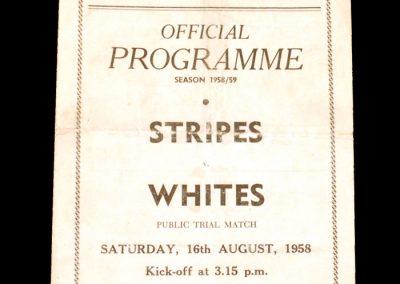 Stripes v Whites 16.08.1958 (public practice)