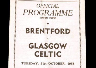 Brentford v Celtic 21.10.1958 (Friendly)
