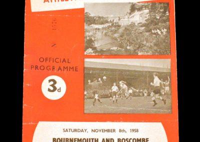 Bournemouth v Brentford 08.11.1958