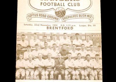 QPR V Brentford 22.11.1958