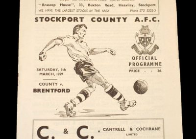 Stockport v Brentford 07.03.1959