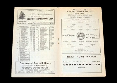 Southampton v Brentford 09.03.1959