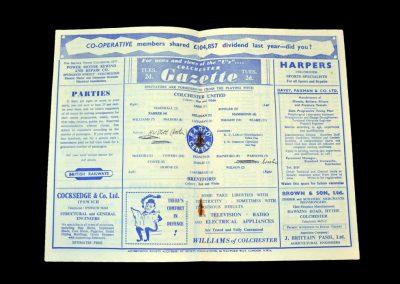 Colchester v Brentford 21.03.1959