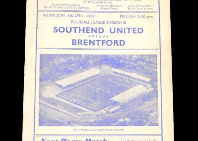 Southend v Brentford 08.04.1959