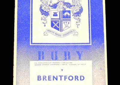 Bury v Brentford 18.04.1959