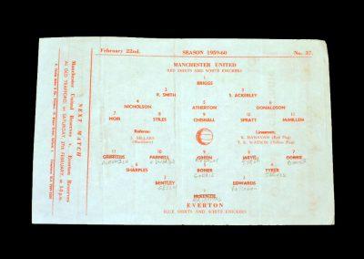 Man Utd v Everton 22.01.1960 (Lancs Cup Final)