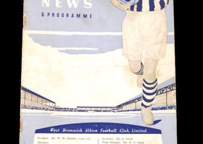 West Brom Reserves v Burnley Reserves 12.09.1959