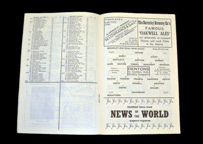 Barnsley v Brentford 22.08.1959