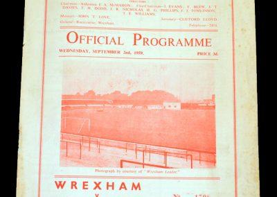 Wrexham v Brentford 02.09.1959