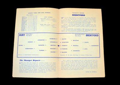 Bury v Reading 15.09.1959