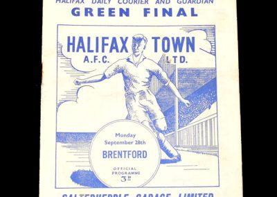 Halifax v Brentford 28.09.1959